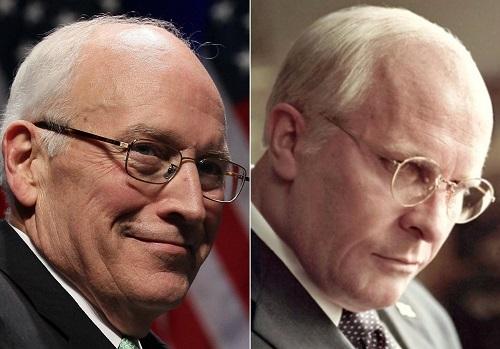 Dick Cheney (ngoài đời) và hình tượng Christian Bale đóng.