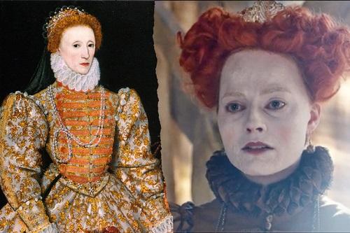 Nữ hoàng Elizabeth I trên tranh vẽ và trong phim.