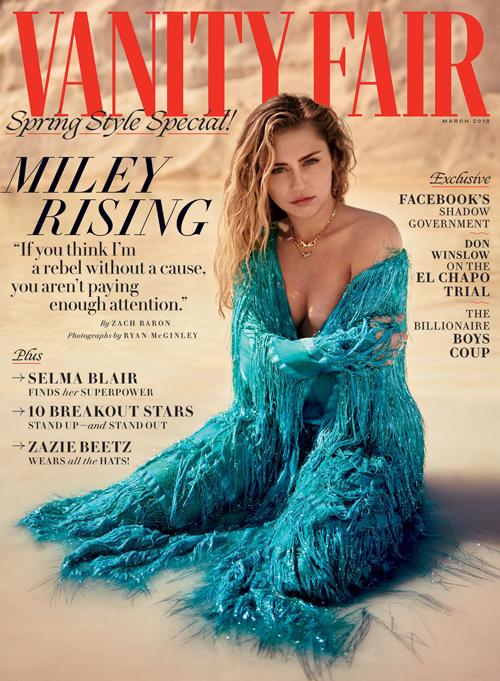 Miley Cyrus để ngực trần chụp ảnh tạp chí