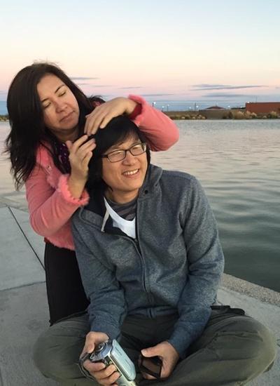 Vợ chồng Phương Thảo - Ngọc Lễ ở Mỹ.