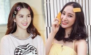 Sao Việt chạy theo mốt cặp tóc ngày xưa