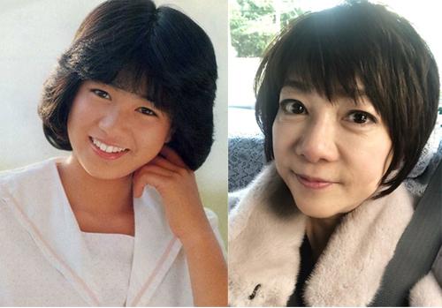 Chiemi Hori thời trẻ và hiện tại.
