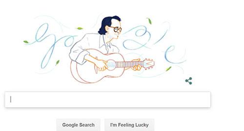 Google tiếng Việt kỷ niệm sinh nhật lần thứ 80 của Trịnh Công Sơn.