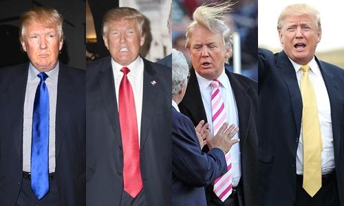 Phong cách đeo cà vạt của ông Trump.