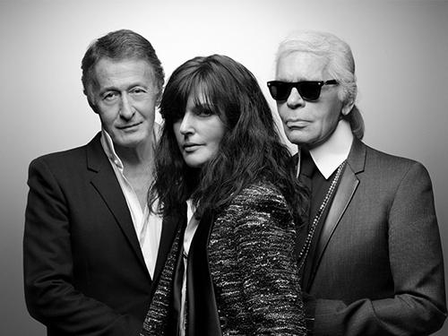 Eric Pfrunder (trái) và Virgine Viard là người kế nhiệm huyền thoại Karl Lagerfeld.