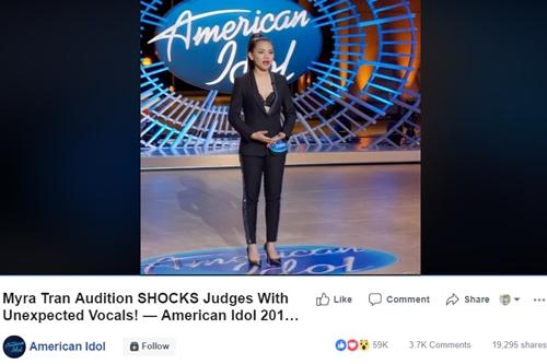 Tiết mục của Minh Như thu hút gần 20 nghìn lượt chia sẻ trên fanpage American Idol