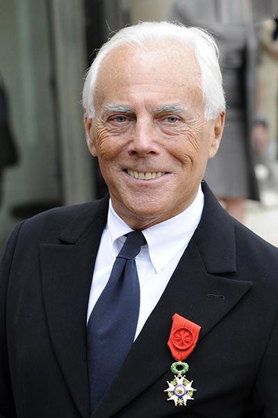 Nhà thiết kế Giorgio Armani.