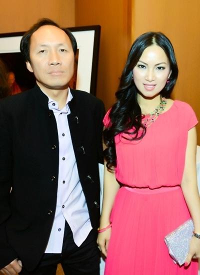 Vợ chồng Hà Phương dự tiệc của tài tử Richard Gere năm 2016.