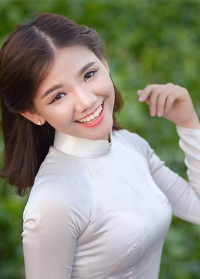 Minh Như khi còn là nữ sinh ở An Giang.