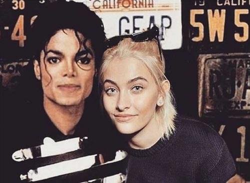 Michael Jackson và con gái Paris Jackson.