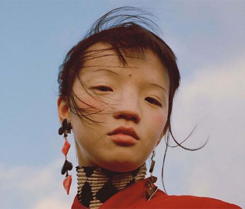 Người mẫu  Gao Qizhen.