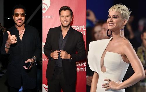 Ba giám khảo của American Idol 2019 từ trái qua: Lionel Richie, Luke Bryan và Katy Perry.