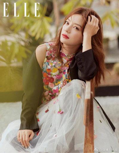 Triệu Vy trên tạp chí Elle (ấn bản Trung Quốc) số tháng 3.