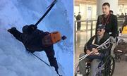 Sao võ thuật Ngô Kinh ngồi xe lăn vì đóng phim hành động