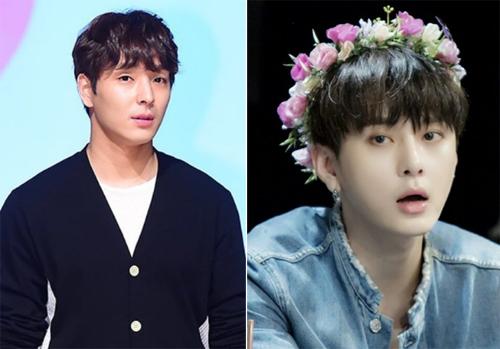 Hai ca sĩ Choi Jong Hoon (trái) và Yong Jun Hyung.