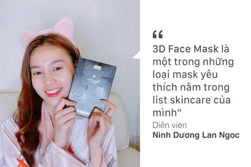 Nữ diễn viên Cua lại vợ bầu chăm chỉ dưỡng da với 3D Face Mask.