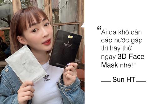 Khả năng cấp nước của dòng mặt nạ này được hotgirl Hà thành Sun HT đánh giá cao. Nhờ 3D Face Mask mà cô không còn lo sợ thời tiết hanh khô của Hà Nội.