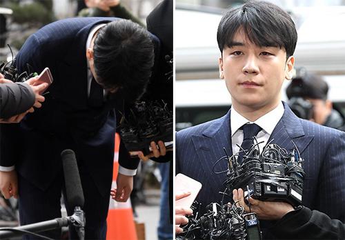 Seungri xin lỗi khi trình diện cảnh sát.