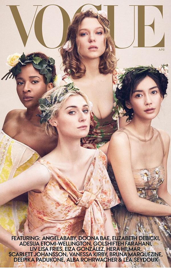Angelababy mặt đơ, tóc rối trên tạp chí Vogue