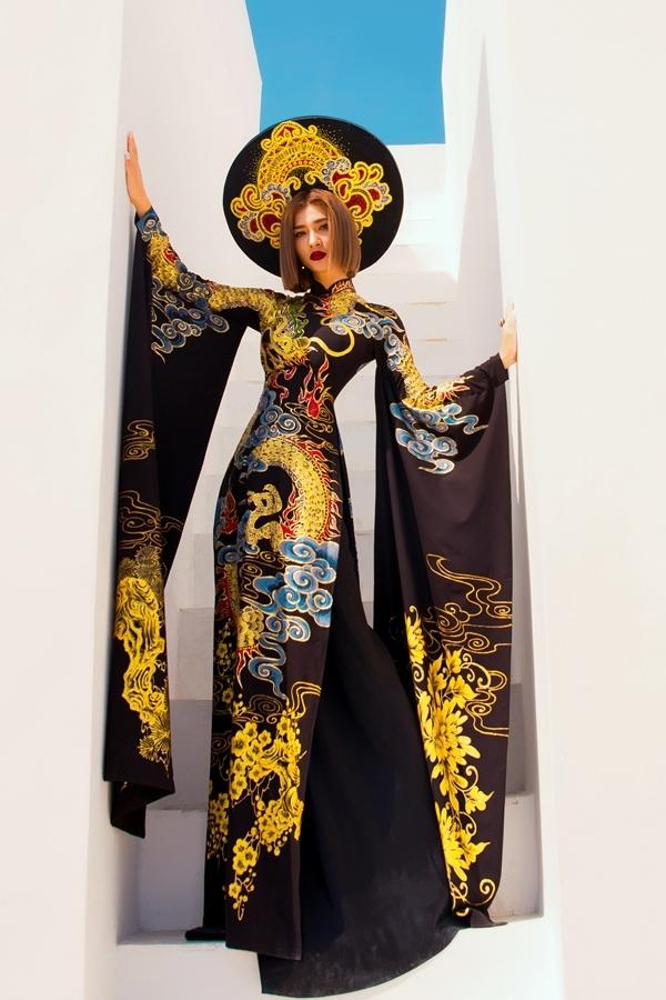 Kim Tuyến biến hóa với loạt áo dài cách tân