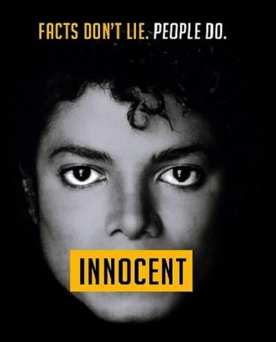 Poster fan tại Anh thực hiện nhằm bảo vệ cố danh ca Michael Jackson trước các cáo buộc xâm hại tình dục trẻ vị thành viên.