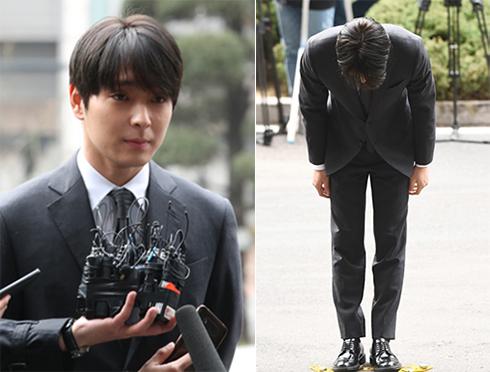 Choi Jong Hoon trình diện cảnh sát hôm 15/3.