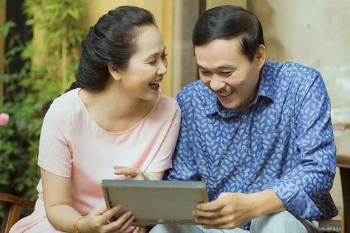 Vợ chồng Lan Hương - Đỗ Kỷ gắn bó hơn 30 năm.