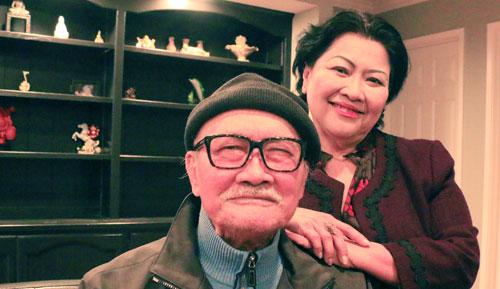 Vợ chồng nghệ sĩ Diệp Lang sống chung với gia đình con gáiở Mỹ.