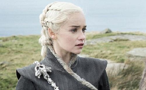 Emilia Clarke - vai Daenerys - trong series Game of Throne.