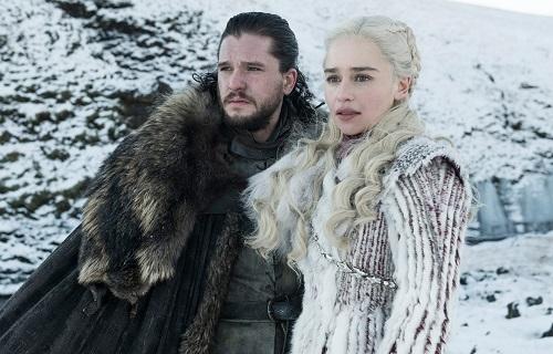 Jon Snow và Mẹ Rồng trong mùa tám Game of Thrones.