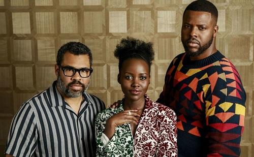 Từ trái sang: Jordan Peele, Lupita Nyongo và Winston Duke.