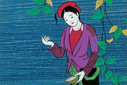 Tranh minh họa truyện Tấm Cám của Nhà xuất bản Kim Đồng.