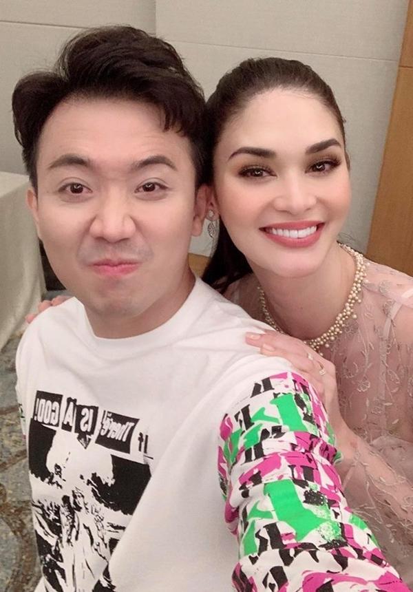 Trấn Thành gặp gỡ Hoa hậu Hoàn vũ Pia Wurtzbach