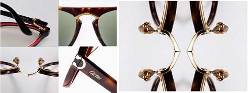 Double C de CartierDouble C chuộng sử dụng đường nét mềm mại, uyển chuyển cho các mẫu thiết kế, gọng kính thuôn dài, mảnh thêm chút điểm nhấn quý phái cho gối kính. Nhà mốt danh tiếng đề cao yếu tố tạo sự khác biệt, ghi dấu ấn sắc nét trong lòng các tín đồ mắt kính.