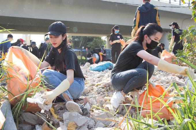 H'Hen Niê, Tiểu Vy tham gia 'Thử thách dọn rác'