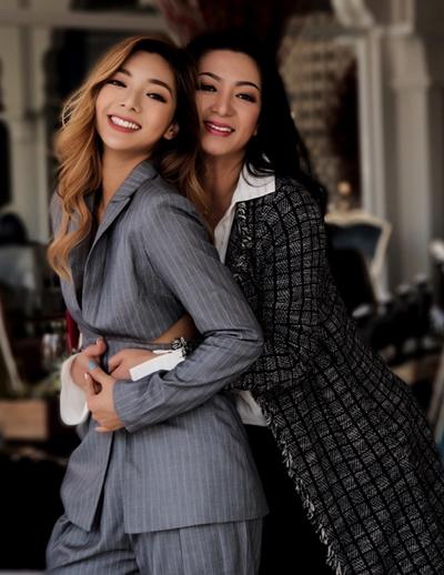 Katleen Phan Võ và mẹ, Hoa hậu điện ảnh 1992 Thanh Xuân.