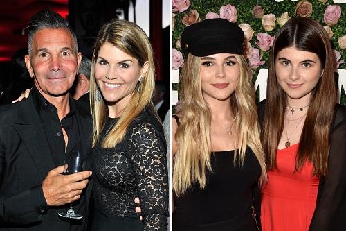 Diễn viên Lori Loughlin cùng chồng và hai con gái. Ảnh: PageSix.