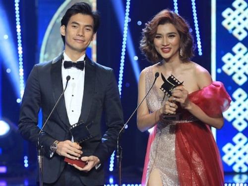 Nhan Phúc Vinh (trái) và Kim Tuyến.