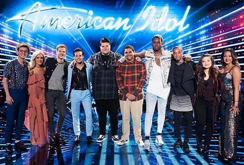 Top 10 thí sinh xuất sắc của American Idol 2019. Ảnh: TVline.