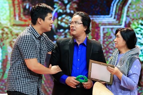 Gia đình Công Hậu kết hợp trên sân khấu trong tập sắp phát sóng.
