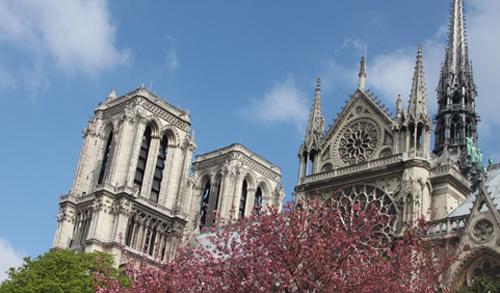 Nhà thờ Đức Bà Paris mùa xuân 2013. Ảnh: Thoại Hà.