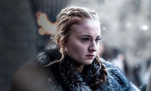 Sophie từng nhận nhiều chỉ trích vì những hành động của nhân vật Sansa trong phim. Ảnh: HBO.