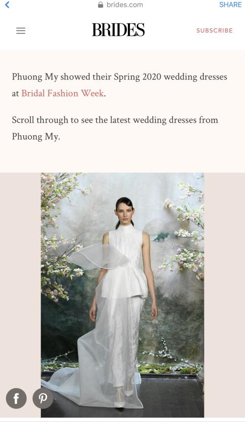 Phuong My xuất hiện trên nhiều báo Mỹ sau New York Fashion Week Bridal (bài xin Edit) - 4