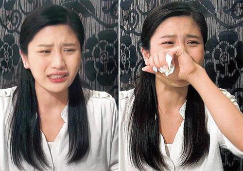 Thiên Dư khóc sau khi nhận quyết định thôi việc từ đài TVB.