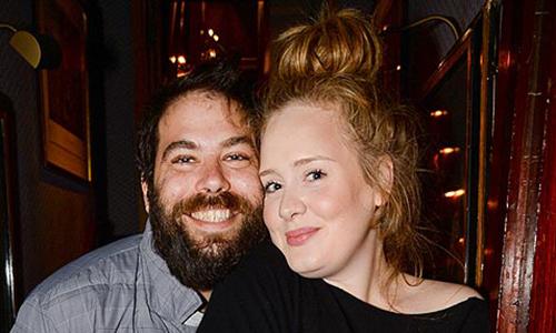 Adele và Simon khi còn bên nhau.