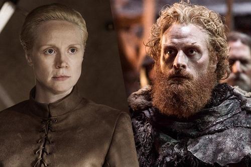 Brienne (trái) và Tormund.