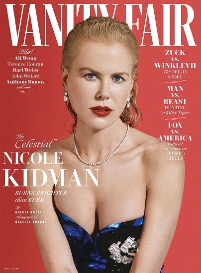 Nicole Kidman trên bìa tạp chí Vanity Fair sẽ phát hành vào tháng 5 tới. Ảnh: VF.