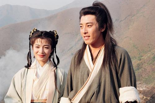Thiếu Hà và Lệnh Hồ Xung Lữ Tụng Hiền trong Tiếu ngạo giang hồ.