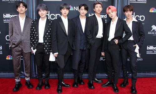 BTS ở thảm đỏ Billboard Music Awards. Ảnh: Shutterstock.