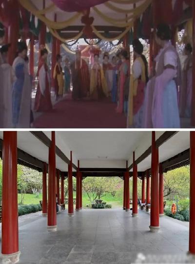 Cảnh Quốc vương Nữ Nhi Quốc tiễn biệt Đường Tăng (phần Thỉnh kinh Nữ Nhi Quốc) được ghi hình tại Vườn Thực Vật ở Hàng Châu.